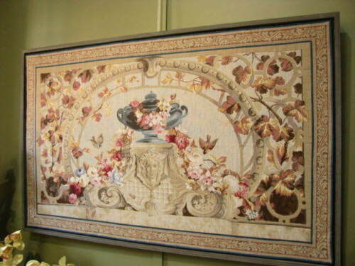 LARGE FRAMED PERIOD STYLE TAPESTRY PICTURE ~ SUIT ANTIQUES, FRENCH, COUNTRY.