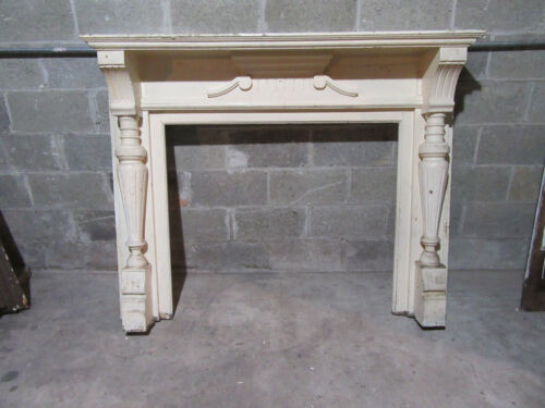 ~ ORNATE ANTIQUE WALNUT FIREPLACE MANTEL ~ 60 X 48 WITH 42 OPENING ~ SALVAGE