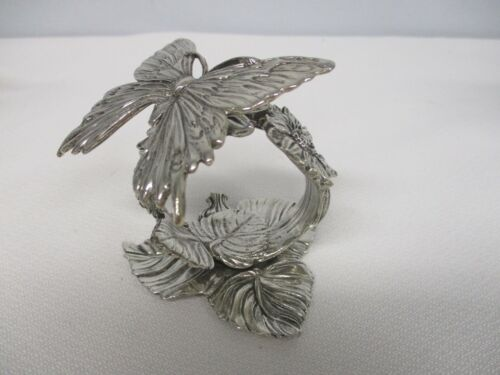 2001 REED & BARTON THE 1824 COLLECTION SILVERPLATE BUTTERFLY NAPKIN RING