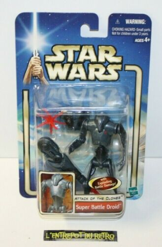 """++ ref 2 / STAR WARS attack of the clone """" SUPER BATTLE DROID """" 2002 NEUF ++"""