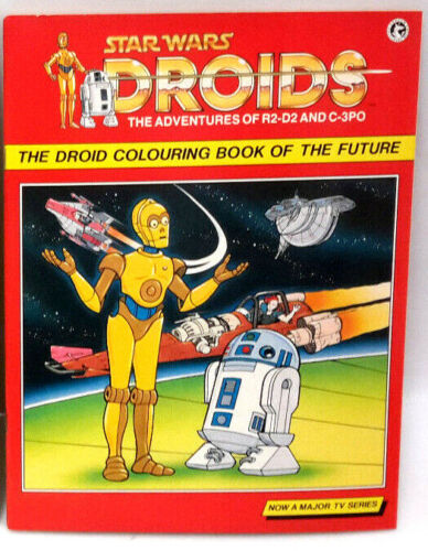 Original 1987 Star Wars Droids Coloring Book of the Future-UNMARKED/UNCOLORED