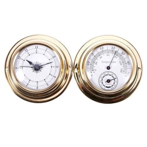 Thermometer Hygrometer Barometer Watches Clock 2 Whole Set Weather Station  E4V1