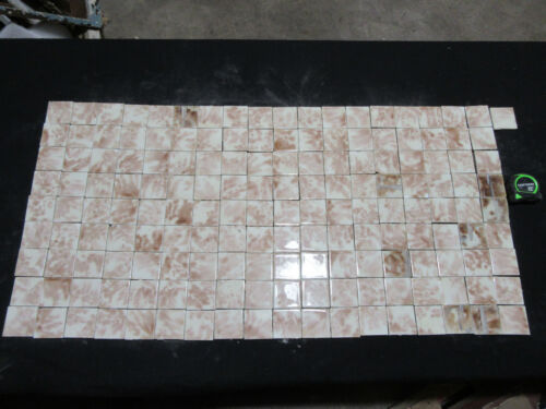 ~ LOT OF 163 ANTIQUE VICTORIAN TILES 2 SQUARE ~ ARCHITECTURAL SALVAGE