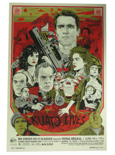 Total Recall Screen Print by Tyler Stout Mondo Alamo Drafthouse Limited 450/450