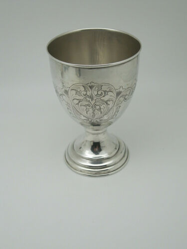 Antique Continental 900 Silver Goblet with Engraving