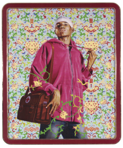 """Kehinde Wiley """"Support the Rural..."""" image on an art journal page. Frame it!"""