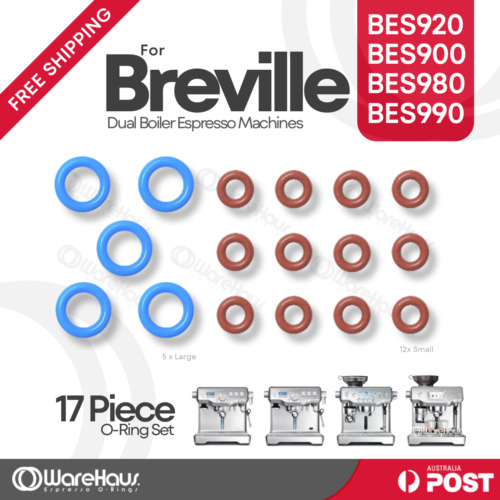 17pce O-Ring set BES920 BES900 BES980 BrevilleDual Boiler Orings O rings Oring <br/> Set of 12 Small & 5 Large O-Rings. Free shipping.