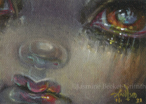 """Tiny Treasure 173 ACEO ATC Jasmine Becket-Griffith big eyes fantasy gothic art <br/> by Jasmine Becket-Griffith 2.5""""x3.5"""" ACEO OOAK Card!!"""