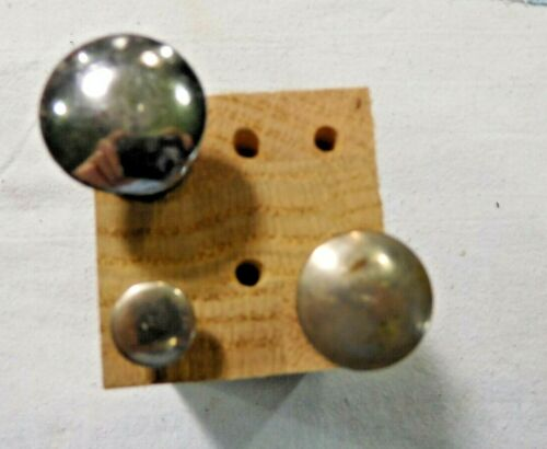 Antique ~Salvage ~  3 Different Antique Knobs Nickel Plated over Brass  1855