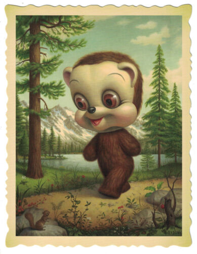 """Mark Ryden """"California Brown Bear"""" postcard perfect for framing The Tree Show"""