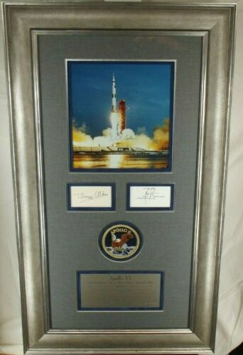 Apollo 11 Crew Signed Display Armstrong, Aldrin, Collins Authenticated Zarelli
