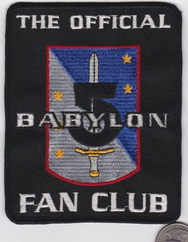 BABYLON 5 THE OFFICIAL FAN CLUB Squadron Patch TV Series
