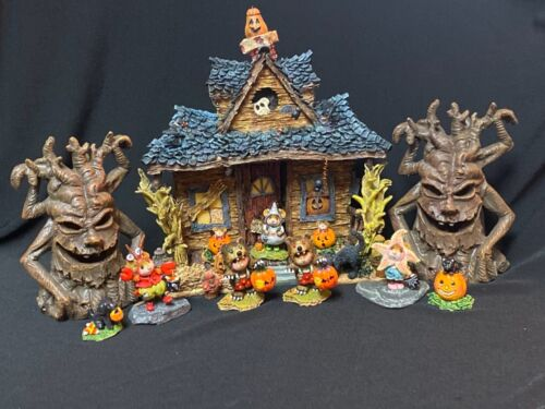 Haunted House With Spooky Trees Display for Wee Forest Folk WFF not Included