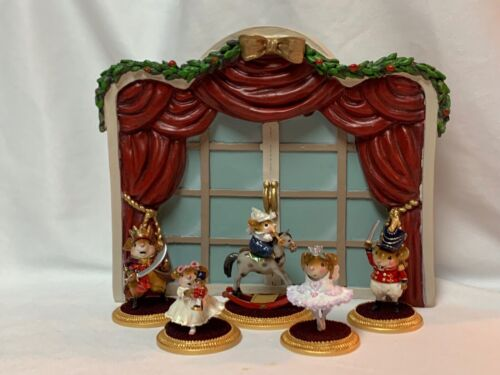 Christmas Backdrop Display for Wee Forest Folk Nutcracker Set WFF not Included
