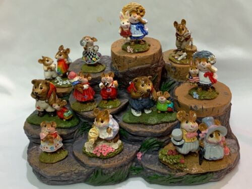Great Tree Stump Display with Green Accents for Wee Forest Folk WFF not Included