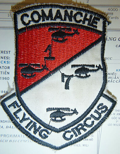COMANCHE - Helicopter Attack - Patch - 1st / 7th AIR CAVALRY - Vietnam War, 3445Patches - 104015