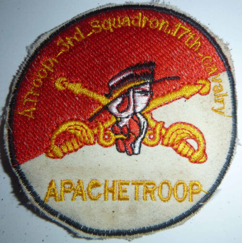 APACHE - Patch - A Troop - 3rd / 17th AIR CAVALRY - Vietnam War - Recon - 1930Patches - 104015