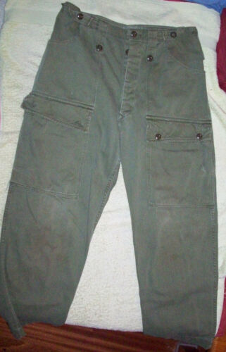 VIETNAM JUNGLE PANTS USED GENUINE AUSTRALIAN ARMY ISSUE - 1960/70s DATED