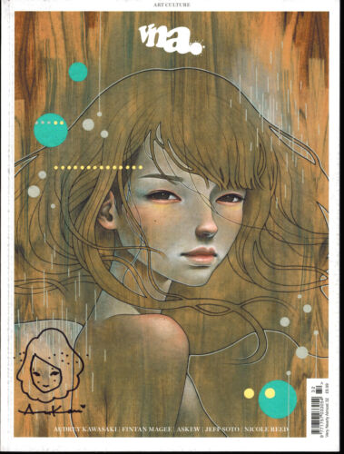 Audrey Kawasaki Very Nearly Almost Magazine cover with ONE OF KIND DOODLE! B