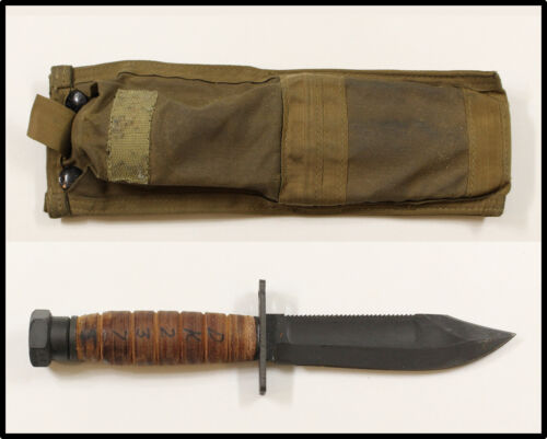 Vintage Ontario Jet Pilot Survival fighting knife 2011 Military Issue Molle NICE