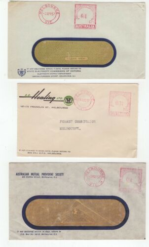 Australia 3 x 1957 commercial advertising covers, nice items.