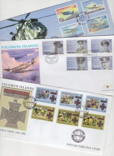 Solomon Islands 3 x FDC 2006-2009 military related