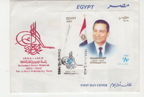 Egypt 1993 cover with miniature sheet FDC