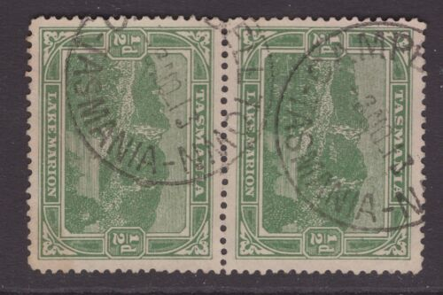 Tasmania CAMPBELL TOWN postmarks on ½d pictorial pair 1913