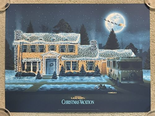 National Lampoon's Christmas Vacation Chevy Chase Art Print Poster Mondo DKNG