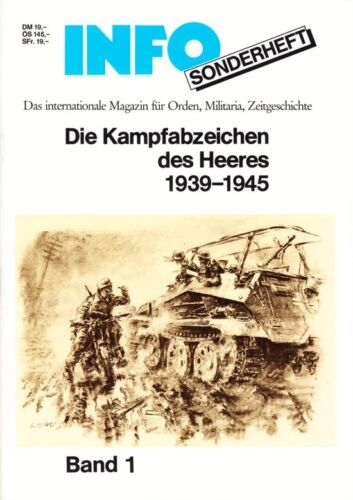 COLLECTOR REFERENCE - KAMPFABZEICHEN DES HEERES 1939-45Medals, Pins & Ribbons - 36047