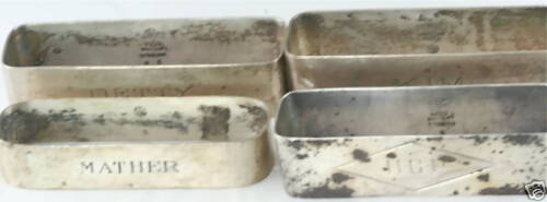 CHICAGO SILVER COMPANY 4 STERLING NAPKIN RINGS HOLDERS