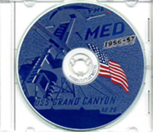 USS Grand Canyon AD 28 1956 - 1957 CRUISE BOOK CDReproductions - 156443