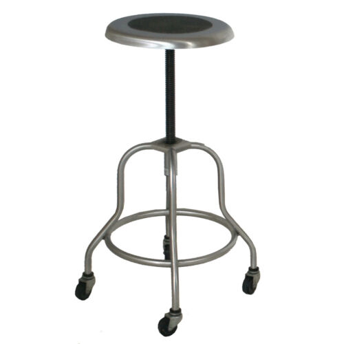 (1) Industrial Wilson Stainless Steel Adjustable Stool (MR11032)