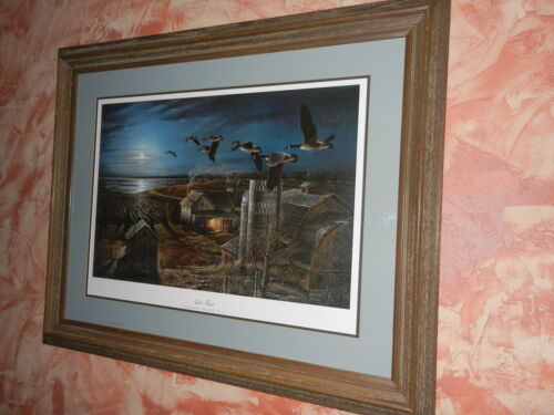 TERRY REDLIN - NIGHT FLIGHT - Framed - Signed- Most sought after print - LOOK