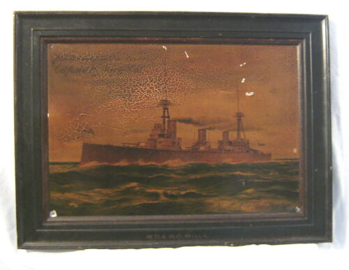 TIN ADVERTISING PICTURE OF  HMAS AUSTRALIA, produced by W.D. & H.O. Wills1914 - 1918 (WWI) - 13962