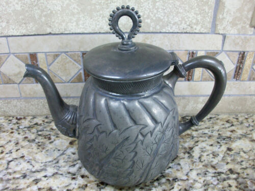 Quadruple Silverplate Teapot Antiques Us