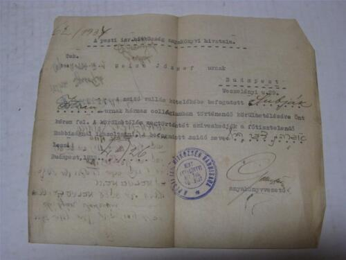 1934 MANUSCRIPT DOCUMENT OF CONVERSION TO JUDAISM in Hungary SIGNATURES Judaica
