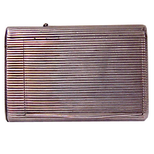 ANTIQUE RUSSIAN 84 SILVER RIBBED CIGARETTE CASE