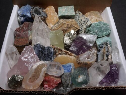 Crafters Rock Collection 1 Lb Mix Gems Crystals Natural Minerals Specimens