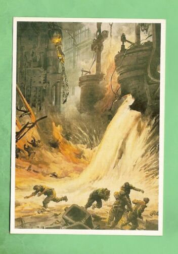 IMAGES OF WAR POSTER CARD - WWII, BRITISH FOUNDARY ATTACK1939 - 1945 (WWII) - 13977