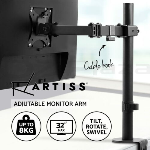 Artiss Monitor Stand Single Arm Desk Mount Computer LCD LED TV Holder Display