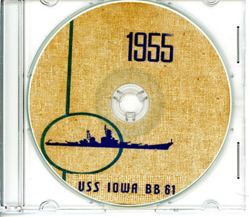 USS Iowa BB 61 Med CRUISE BOOK Log 1955  CDReproductions - 156443