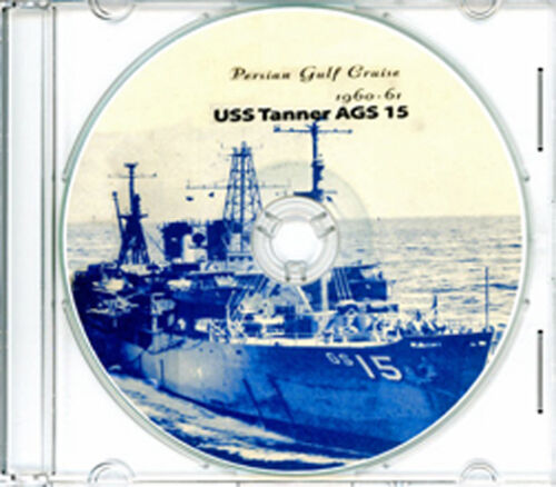 USS Tanner AGS 15 Med Persian Gulf  CRUISE BOOK Log 1960 - 1961 CDReproductions - 156443