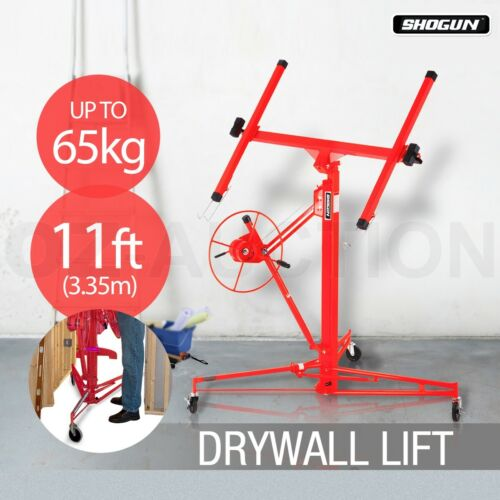 Red Shogun 11ft Drywall Sheet Panel Lifter Plaster Board Hoist Lift Plasterboard
