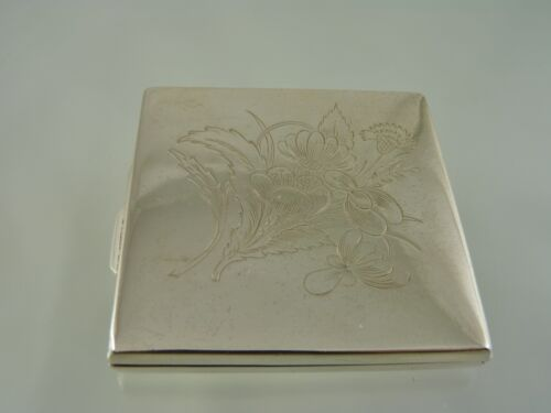 FLOWER BOQUET ENGRAVED CARD CASE OR BOX BY LATVIA MAKER
