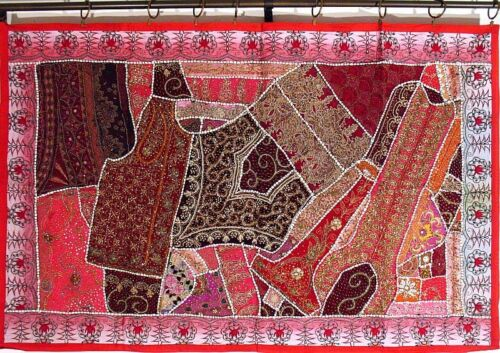 """Vintage Indian Tapestry Wall Hanging Art Beautiful Handmade Decorative Throw 60"""""""