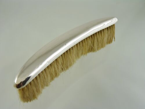 PLAIN CURVED BUTLERS BRUSH WITH WOOD BRISTLES BY BIRKS RODEN