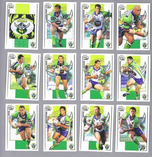 Ten  Sets  Of 2005 Canberra  Raiders   Power  Rugby  League  Cards