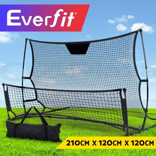 Everfit Portable Soccer Rebounder Net Volley Training Football Goal Trainer XL <br/> 210x120x120cm / Carry Bag / 2 In 1 Design / Easy Set-up