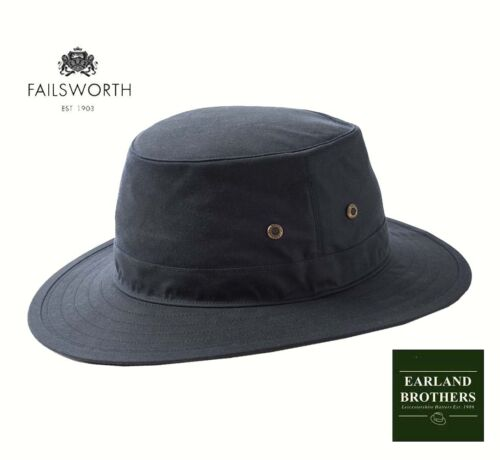 Failsworth NAVY BLUE Wax Cotton Hat Traveller Outback Fishing Outdoor Hat